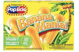 Banana flavored frozen novelty