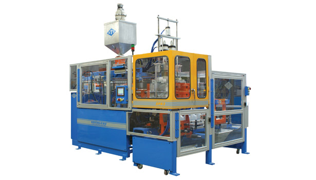 Rocheleau offers a reciprocating screw blow-molding machines