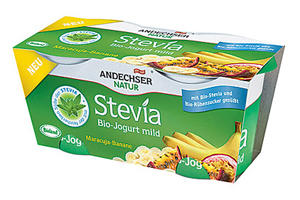 Stevia sweetened yogurt