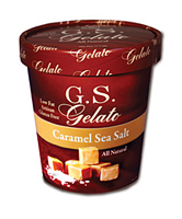 Caramel and sea salt gelato
