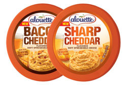 Spreadable cheddar cheese