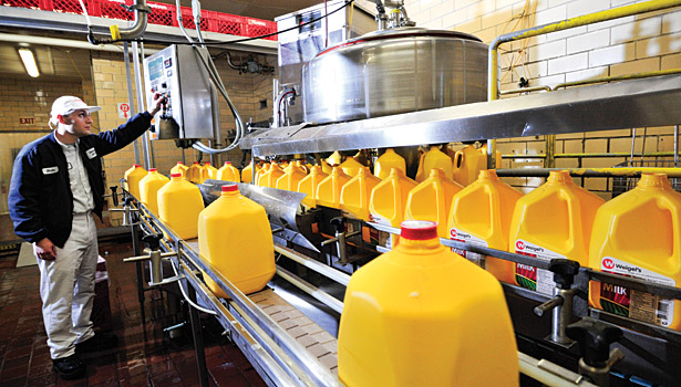 Weigel's milk process