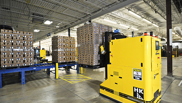 Automated guided vehicles at Dannon