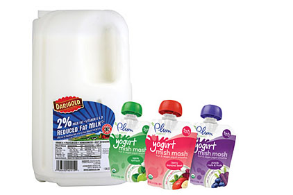 Milk and yogurt packages