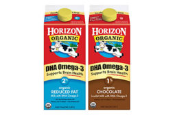 Horizon fortified organic milk