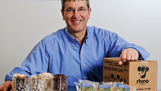 Ted Castle makes the cookie dough that Ben & Jerry's made famous