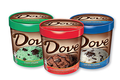 three new Dove ice cream pint flavors
