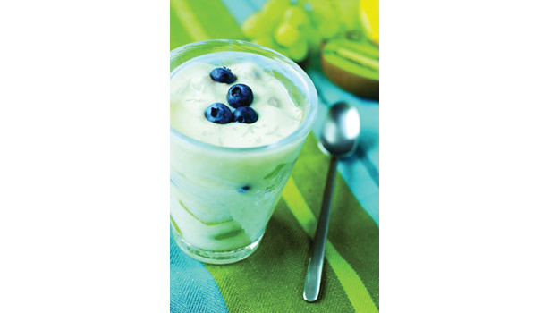 Blueberries with yogurt