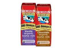 Organic Milk plus DHA Omega-3 in single-serve milk boxes