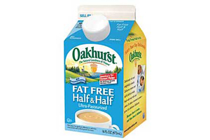 Oakhurst introduces fat-free half and half