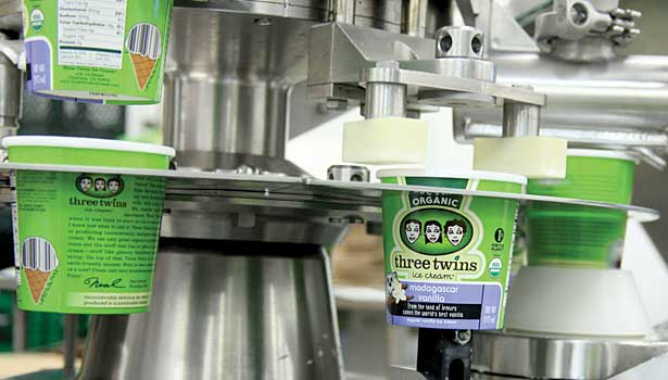 Three Twins Ice Cream has the capacity to make 3 million pints a year at its plant in Petaluma, Calif