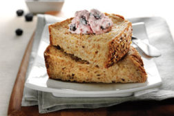 Bread with topping