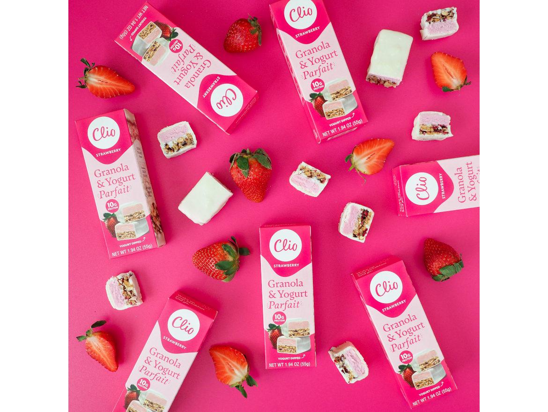Clio Greek yogurt parfait bars