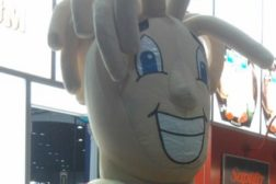 Frigo cheese head mascot at IDDBA