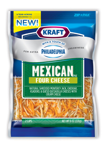 Kraft Mexican four cheese