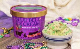 Blue Bell Mardis Gras King Cake
