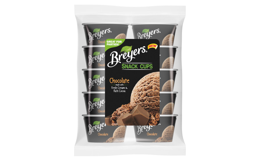 Breyers chocolate snack cups