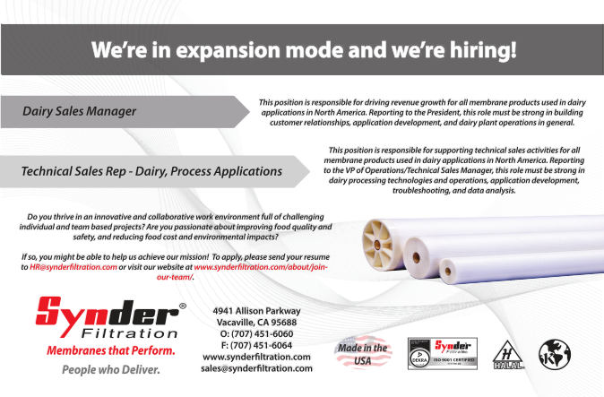 Synder Filtration - We're in Expansion Mode and We're Hiring!