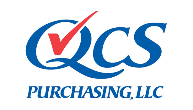 qcs purchasing llc logo red blue
