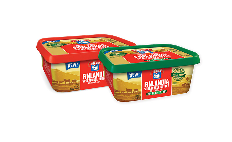 Finlandia launched 2 spreadable butters with canola oil
