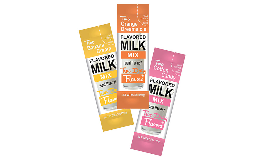 True Dairy Flavors introduces flavored powder mixes for milk in packets