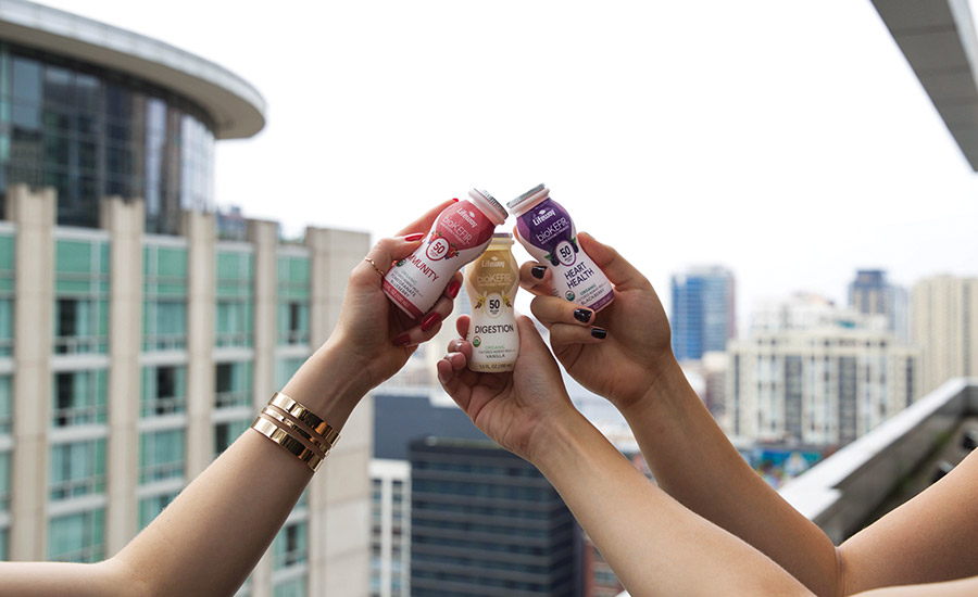 Each of the Lifeway brand Biokefir shot varieties is designed to support immunity, heart health or digestion