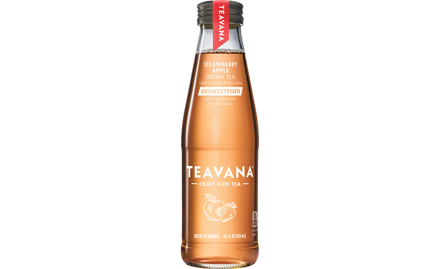Teavana releases RTD unsweetened strawberry apple green tea