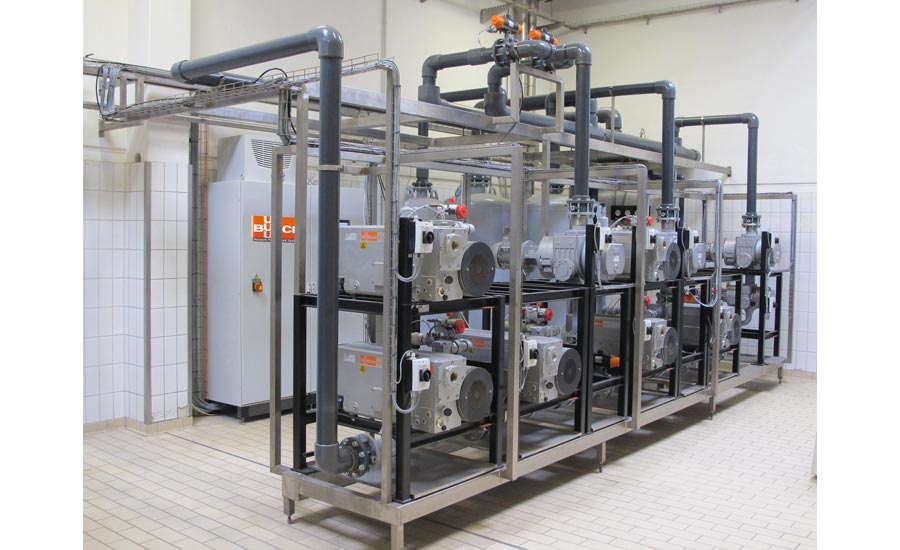 Central Vacuum Supply for Efficient Cheese Packaging