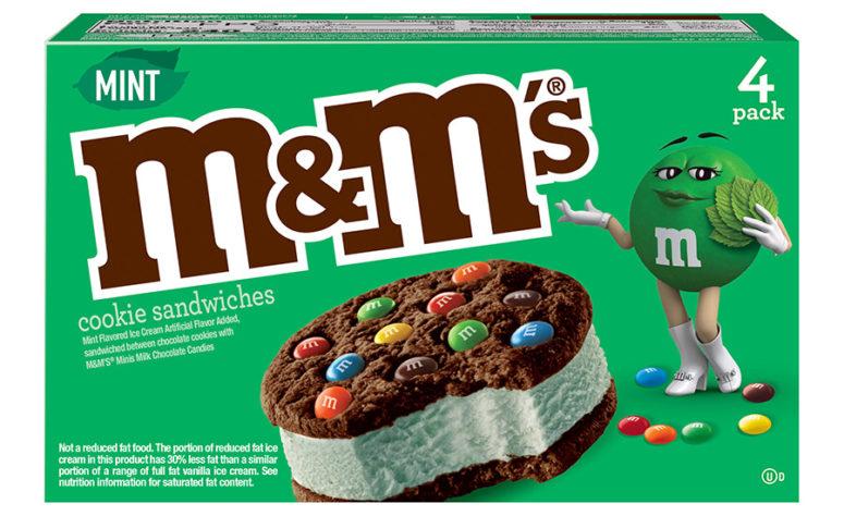 b. Mars adds new varieties of M&M'S ice cream cookie sandwiches