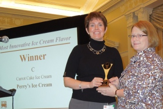 Robin Waite, Perry's Ice Cream; Amy Vodraska, Dairy Foods.