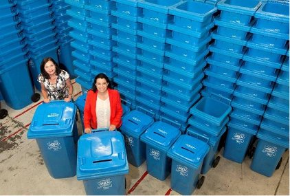 Fonterra blue bins New Zealand