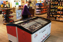 Nestlé said it is rolling out more environmentally efficient ice cream freezers for retail shops across Europe.