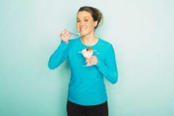 Generic photo of woman eating yogurt