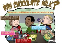 Cornell University research shows that removing chocolate milk from school menus has negative consequences.