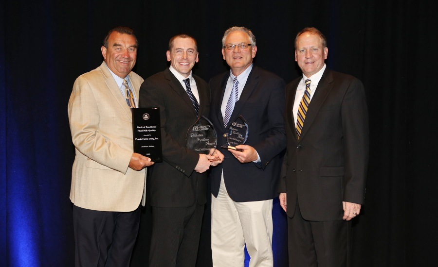Prairie Farms Anderson, Ind. receive a quality award from Quality Chekd