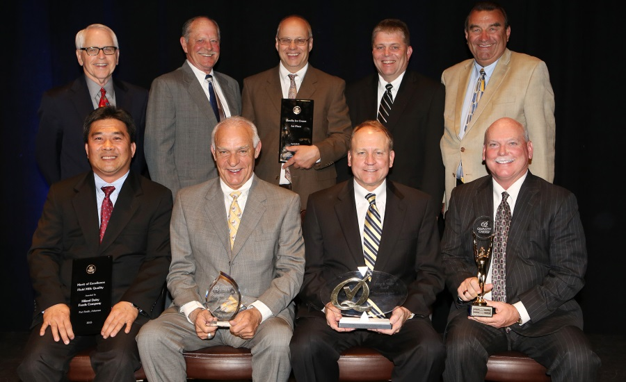 Hiland dairy executives are honored by QCS with Quality Chekd awards