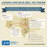 CDC Blue Bell Ice Cream infographic