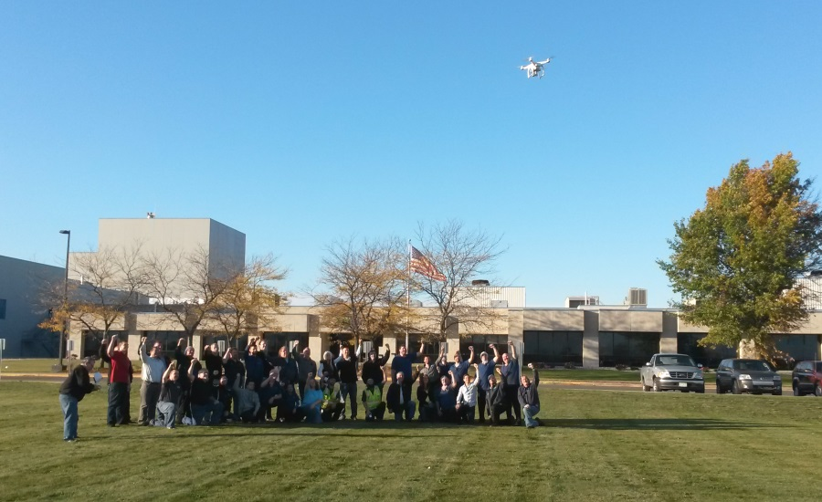 fairlife employees drone shot