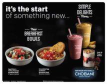 Chobani smoothies and parfaits at McDonald's