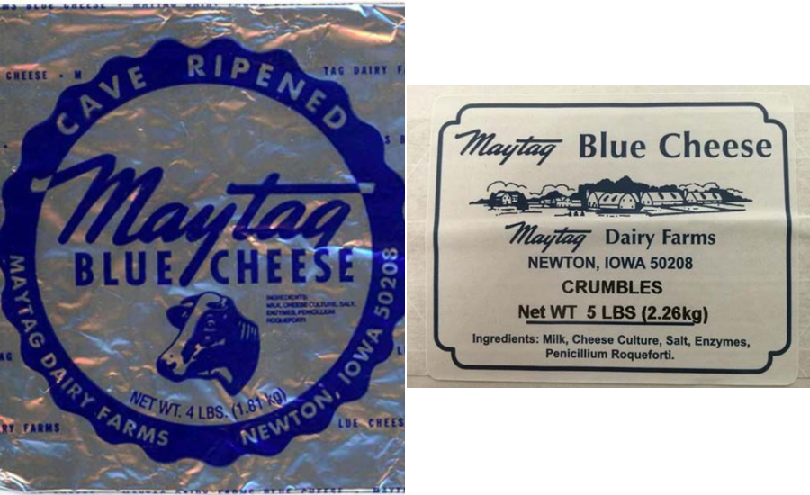 Maytag blue cheese labels