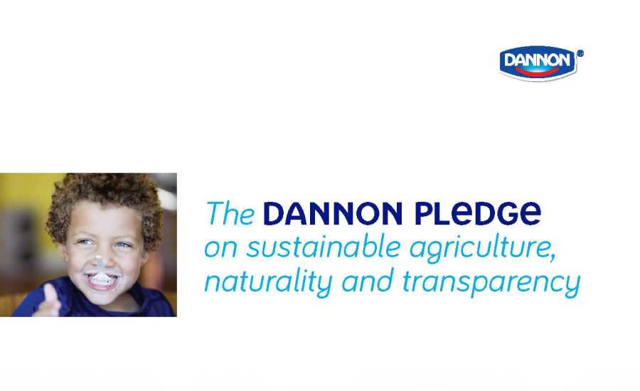 Dannon sustainable report cover page