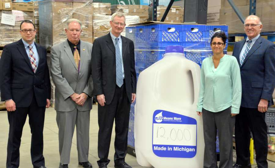 Michigan Milk Producers, Kroger deliver 12,000 gallons of milk to