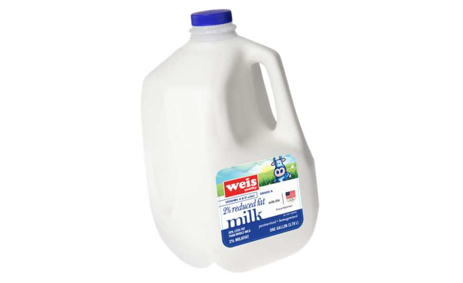 Weis Markets milk gallon with Olympics rings