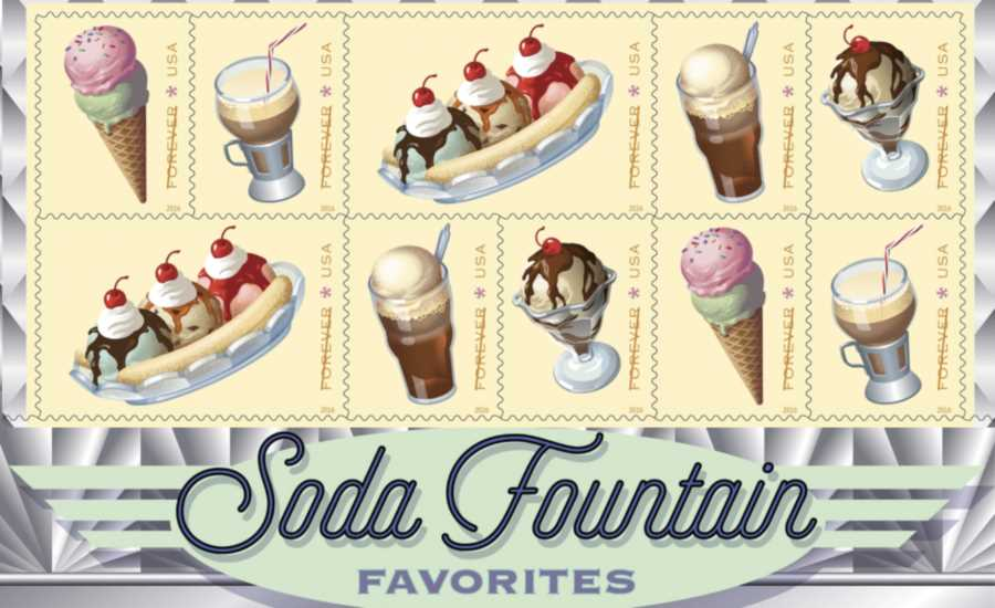 U.S. Postal Service has announced a new set of ice cream-themed Forever postage stamps