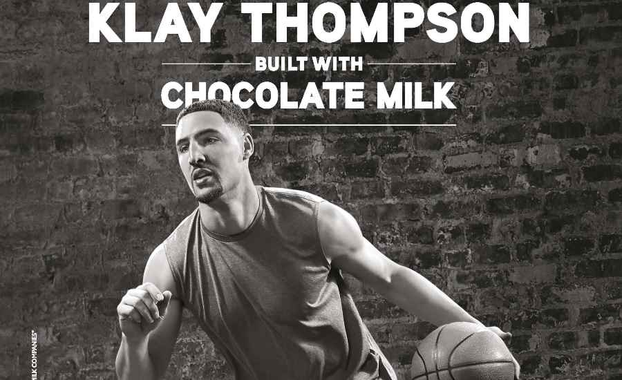 Klay Thompson of the NBA's Golden State Warriors is the new face of the Built With Chocolate Milk
