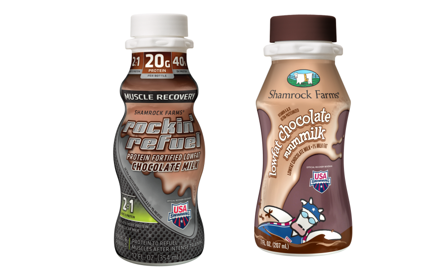 Shamrock Farms USA Swimming for MilkPEP built with chocolate milk