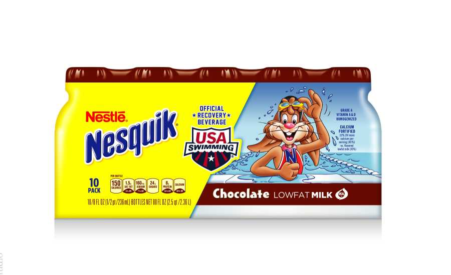 Nesquik USA Swimming for MilkPEP built with chocolate milk