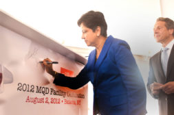 New York Governor Andrew Cuomo Joins PepsiCo CEO Indra Nooyi To Celebrate Construction Of New Muller Quaker Dairy Yogurt Manufacturing Facility