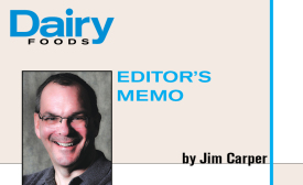 Jim Carper, editor of Dairy Foods