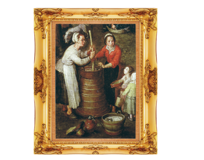 butter churners painting